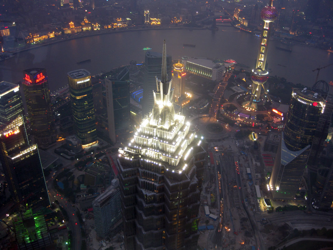 Early Night View From Shanghai World Financial Center